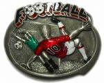 Football Club Players Game Belt Buckle display stand. Code AE5
